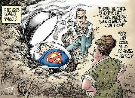 What would have become Super Man if he had been found by a Tea Party couple? …