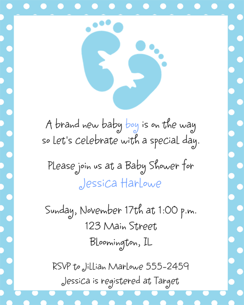 Baby shower invitations for boys blue footprints baby shower baby shower invitations for boys blue footprints baby shower invitations invitations are a great way filmwisefo