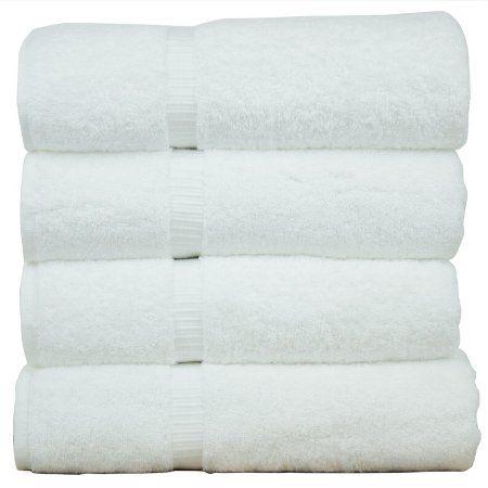 "Luxury Hotel & Spa Bath Towel 100% Genuine Turkish Cotton, 27"" x 54"" ,Set of 4,White, 2016 Amazon Most Gifted Bath  #Kitchen"