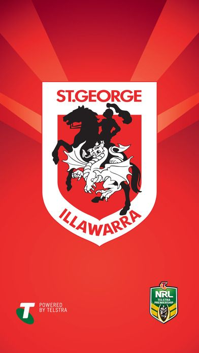 Official St George Illawarra Dragons On The App Store Team Wallpaper St George George Dragon