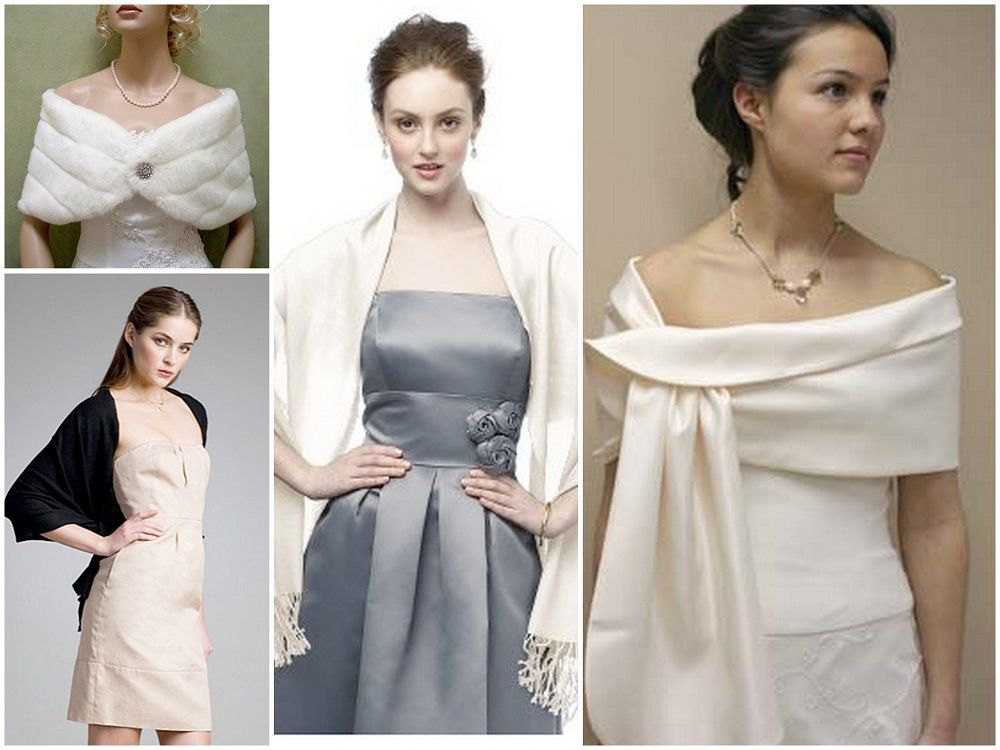 Wear A Shawl With Wedding Dress
