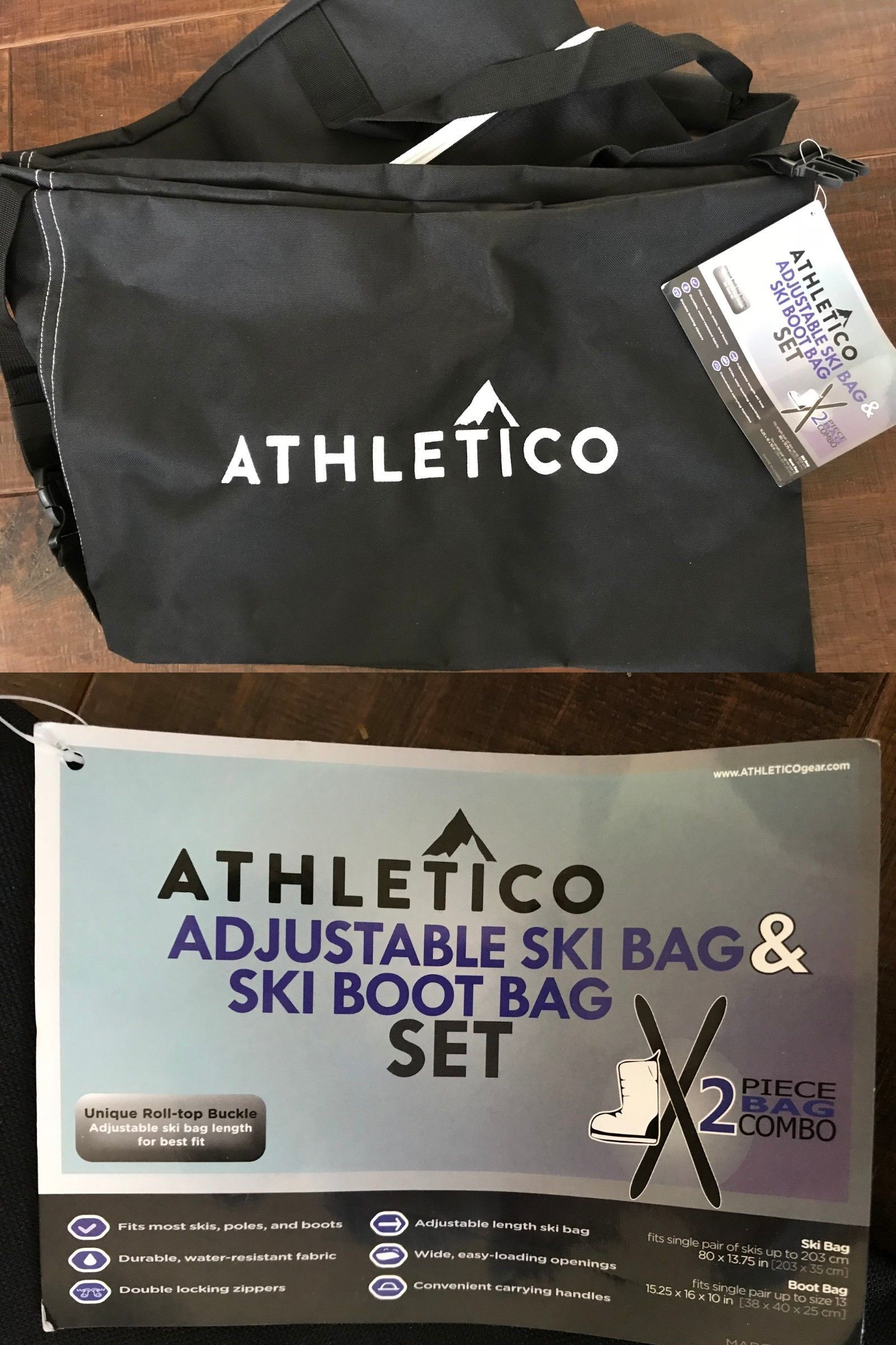 f386ab0a46e1 Bags and Backpacks 21229  Athletico Ski Bag New Store Transport Skis  Adjustable -  BUY IT NOW ONLY   24.99 on  eBay  backpacks  athletico  store   transport ...