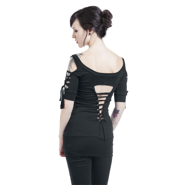 Kork Girl-Shirt schwarz Outer Vision DLRmn