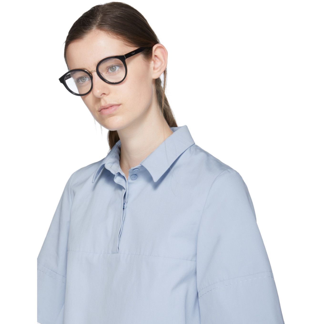 6b2774c1b1b Chloé - Black Round Glasses