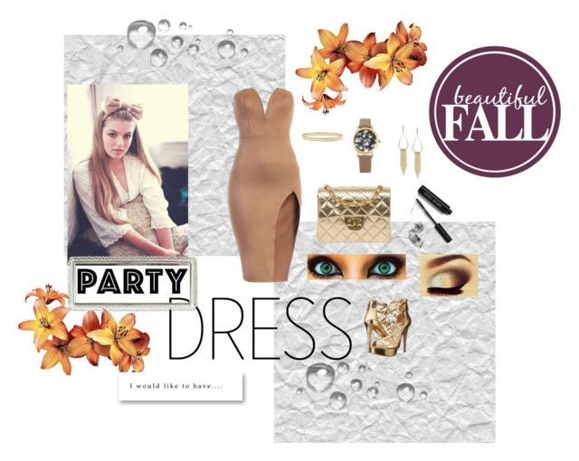 """""""Missing Fall"""" by dezzi17 on Polyvore featuring Kate Spade, Chanel, Decree, INC International Concepts, GUESS, Bobbi Brown Cosmetics, Urban Decay, Fall and partydress"""