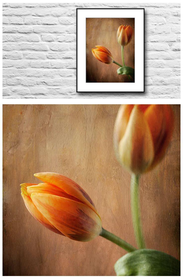 Flower wall art room decor rustic rust orange wall art flower