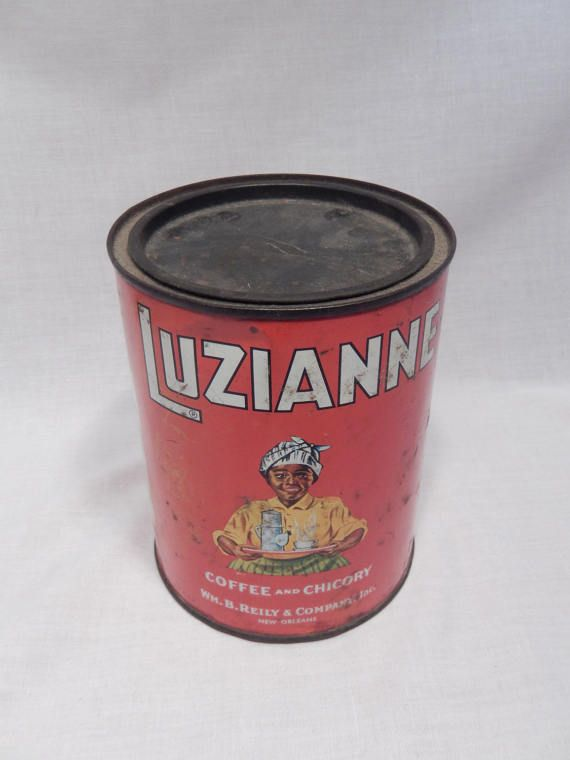 Popular Luzianne Coffee and Chicory Tin WM B Reily & by RascalsRarities HD - Style Of chicory coffee Inspirational