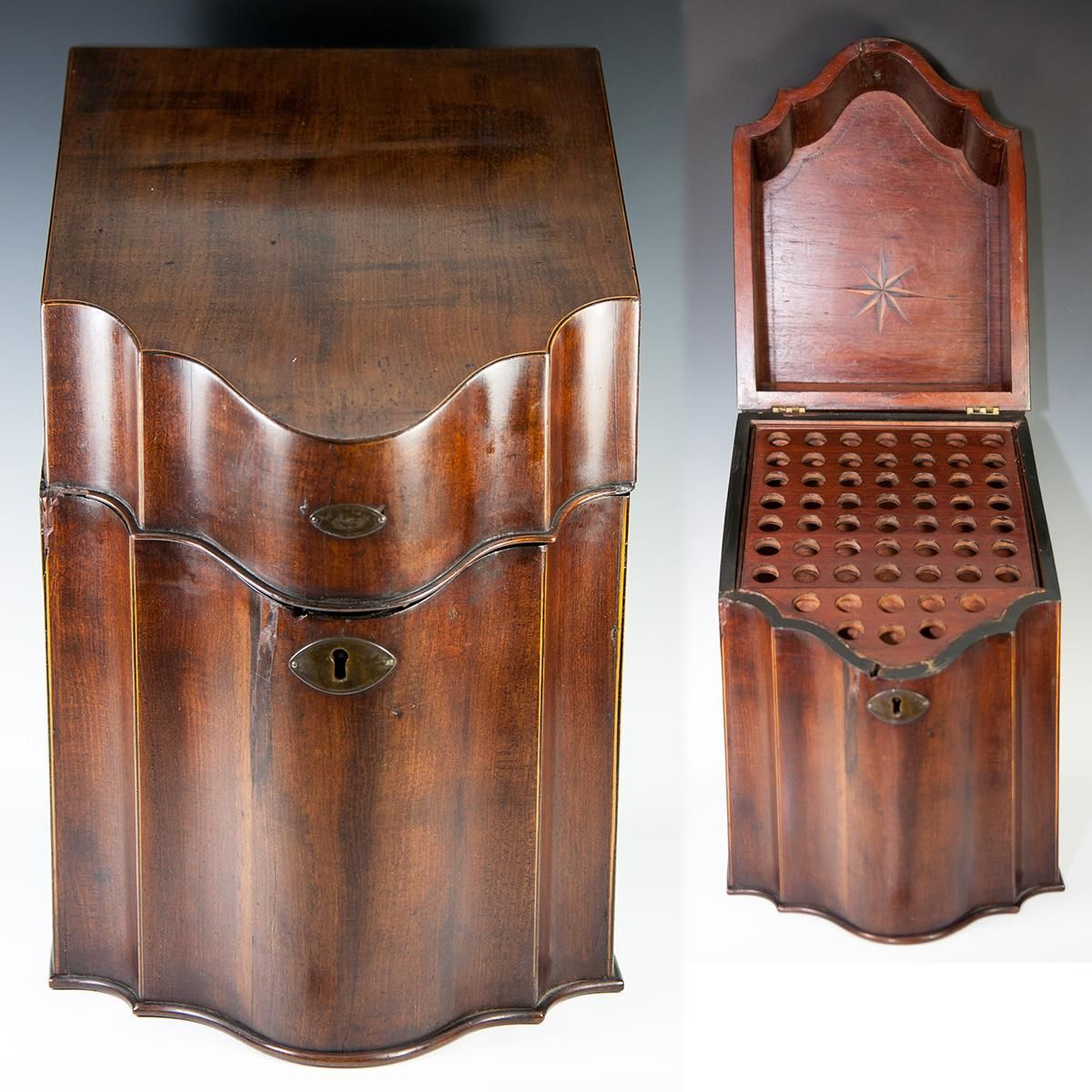 Antique Era Cutlery or Knife Box, Chest