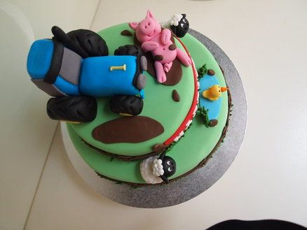 Farm cakes for twins  Cake by Katie