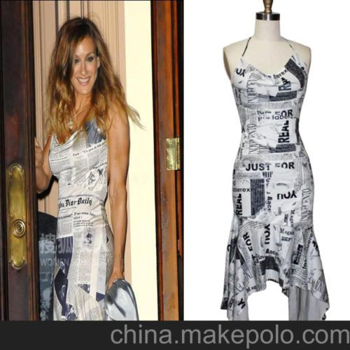 Sexy news paper printing halter women spandex culbwear evening sexy news paper printing halter women culbwear evening dress ebay gumiabroncs Choice Image