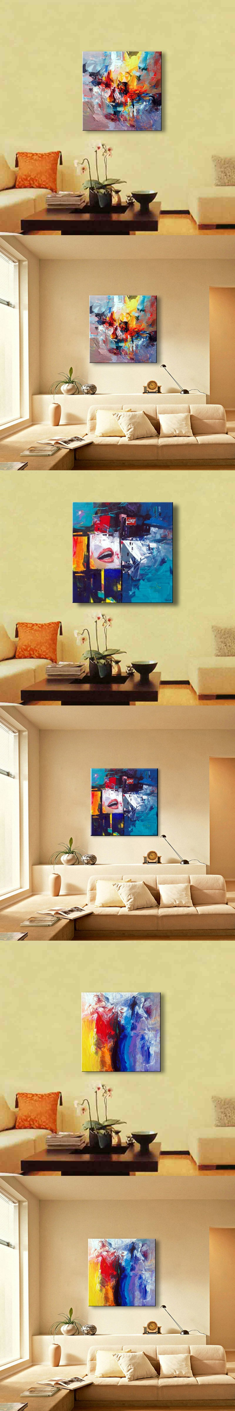 Hand painted oil painting abstract oil painting Modern Wall Decor ...