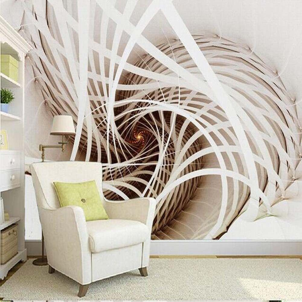 Custom Large Murals White Abstract Painting Wallpaper