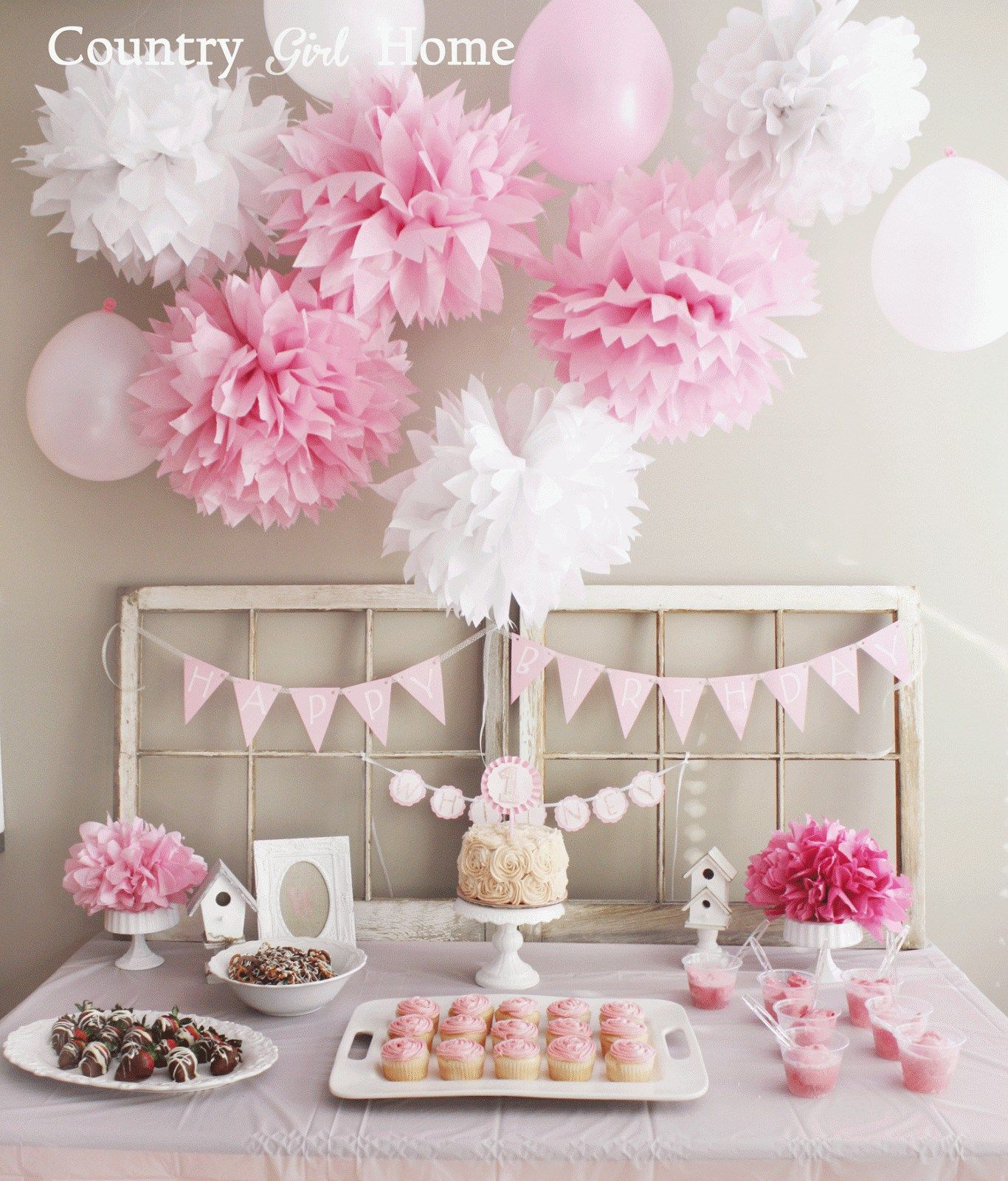 Decoration For Home For Cheap: Fresh First Birthday Decoration Ideas At Home For Girl