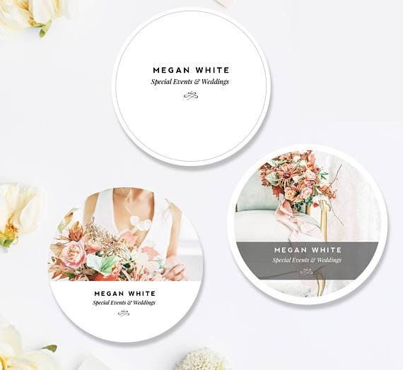 Wedding Planner Sticker Designs, Photoshop Marketing Templates