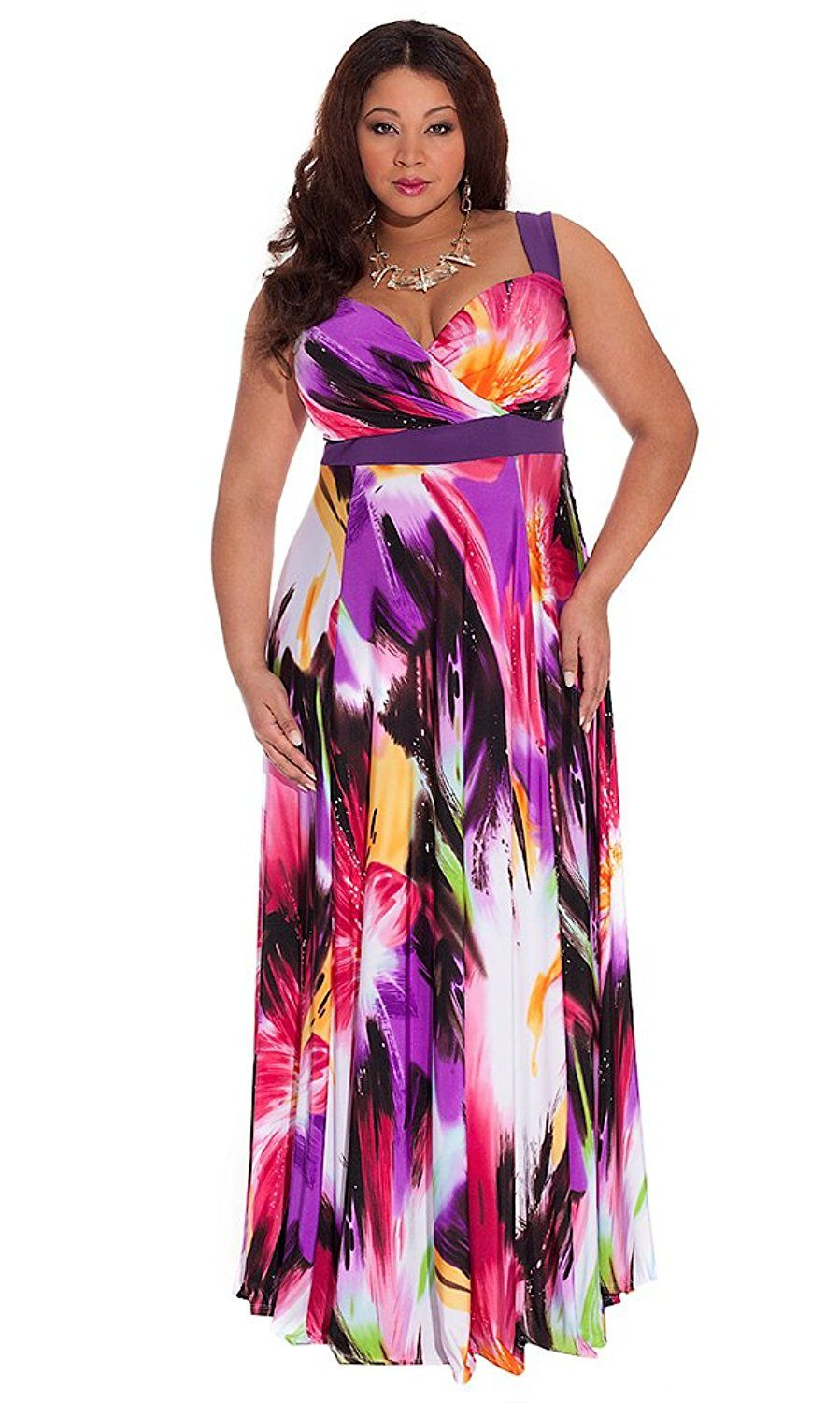 58fdcd5e863 IGIGI Women s Plus Size Tropical Beauty Maxi Dress -- Additional details at  the pin image