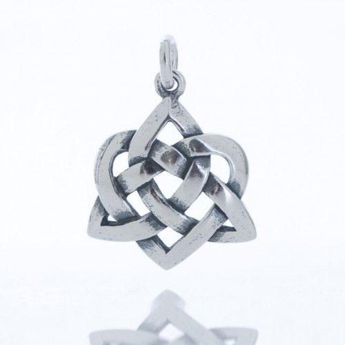 Handcast 925 sterling silver irish celtic love knot heart necklace intricate 925 sterling silver irish celtic love knot heart pendant 18 rope chain handcrafted from mozeypictures Image collections