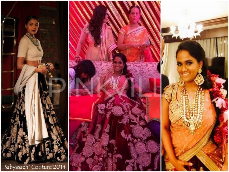 Mehndi Ceremony Dress For Bride : Arpita khan in sabyasachi couture for mehendi ceremony indian