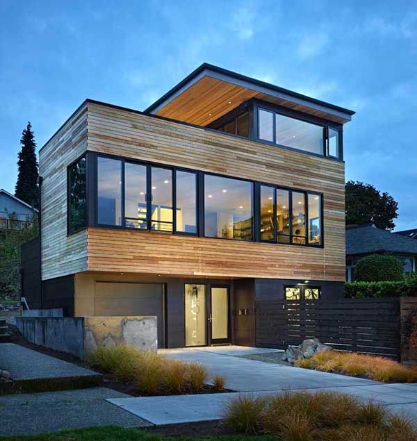 Three Story Modern Pad Built For Cyclists In Seattle Cycle House Architecture House Designs Exterior Modern Architecture