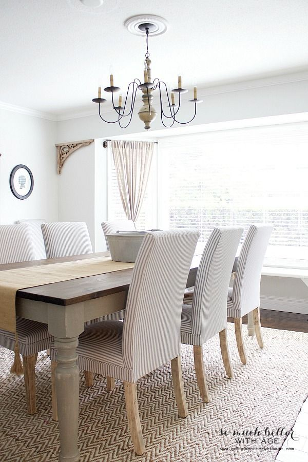 Get my dining room look | http://somuchbetterwithage.com