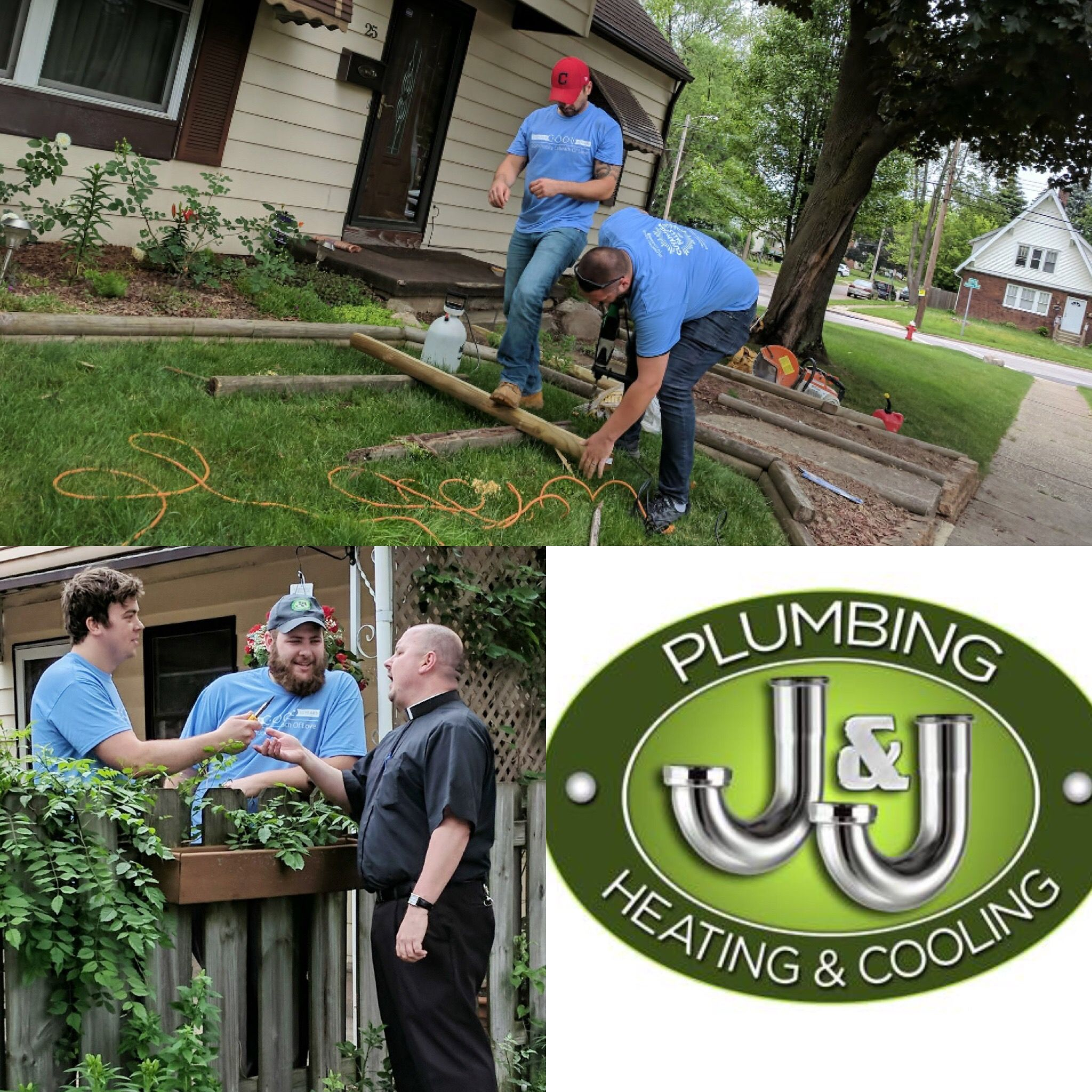 J J Plumbing Heating Cooling Volunteered In C O O L Day Our