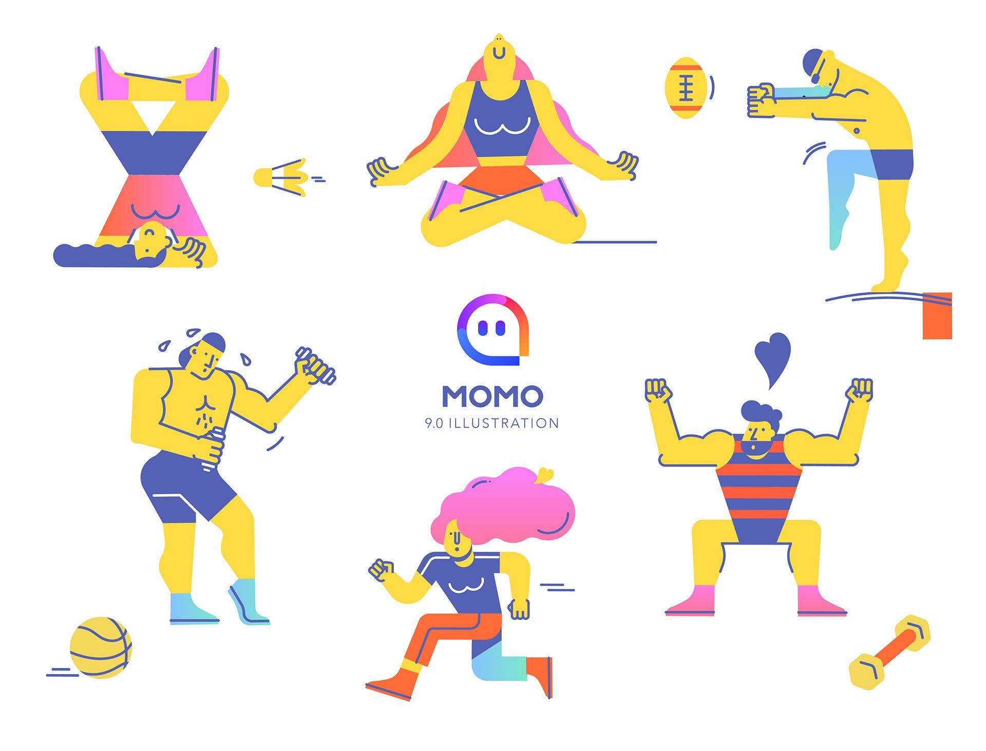 Momo App 9.0 Version Illustration on Behance Momo app