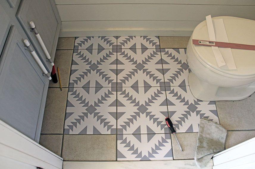 Floor Stickers in The Bathroom Flooring, Floor stickers