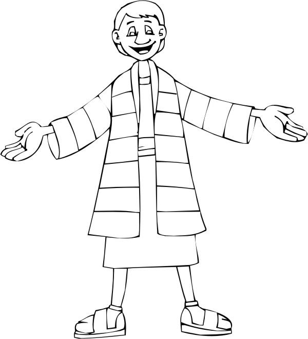 Coloring Pages - Joseph\'s Coat of Many Colors ...write color words ...