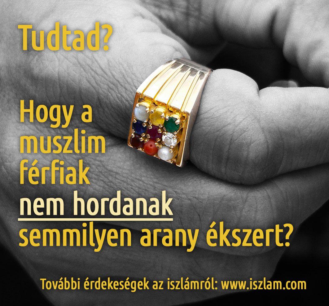 A muszlim férfiak nem hordanak aranyékszert