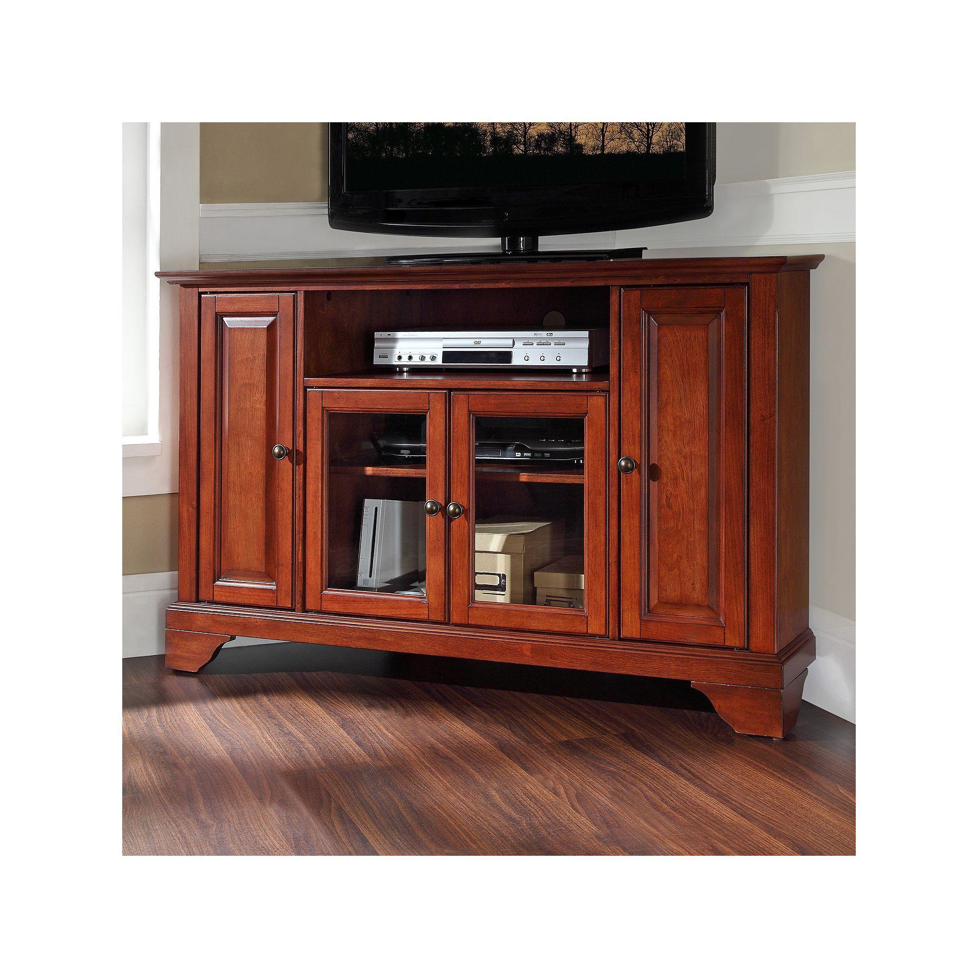 Crosley Furniture Lafayette Corner Tv Stand Corner Tv Corner Tv