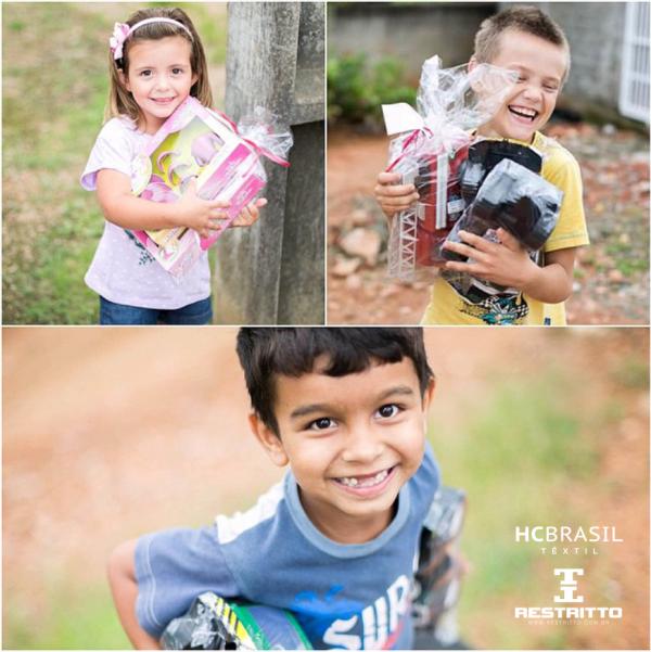 """Com o intuito de fazer o natal mais feliz para centenas de crianças carentes de Timbó, a HC Brasil e a Restritto realizaram a campanha """"Neste natal o nosso maior presente é ver a sua alegria""""."""