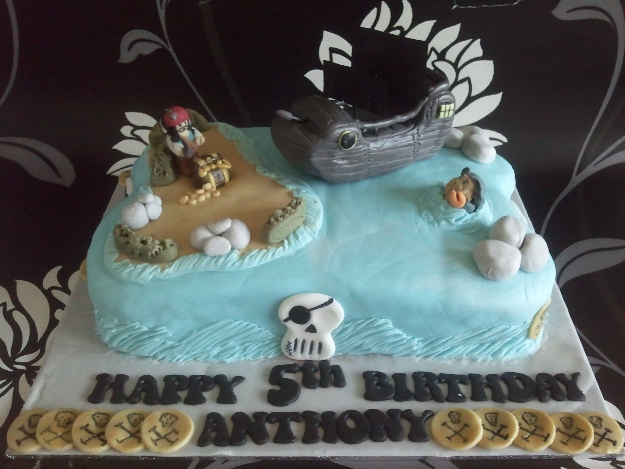 Pirates Of The Caribbean Themed Birthday Cake Yummy Stuff In