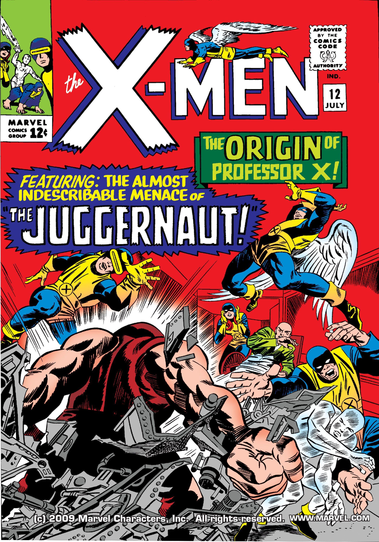 Uncanny X Men 012 1965 Digital Juggernaut Cain Marko First Appearance Origin Of Professor X Charles Xavier Marvel Comics Covers Comic Books Art Comics