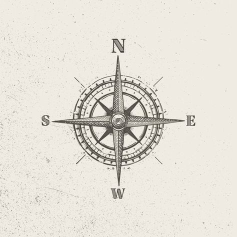 Vector Vintage Compass Style A Traditional Compass Tattoo Vintage Compass Tattoo Compass Tattoo