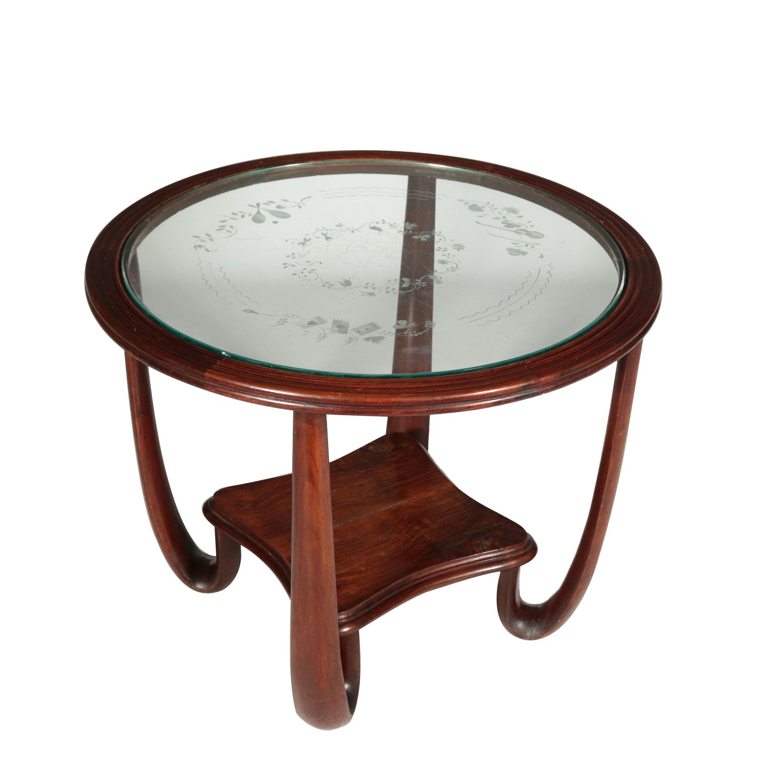 round coffee table vintage italy 1940s
