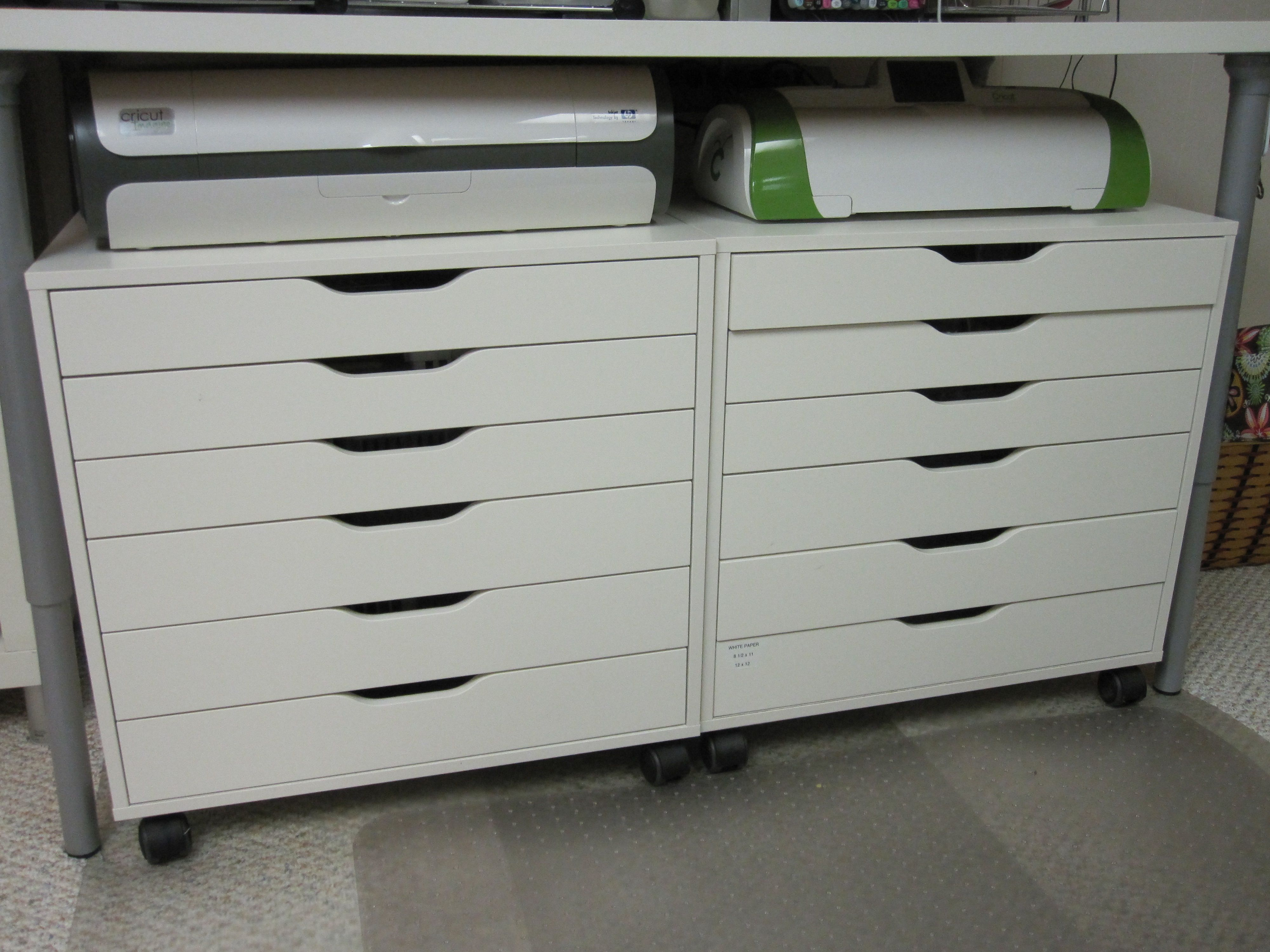 Cricut Station Ikea Rolling Cart And With Ikea Table Over It Could Also Roll Under A Counter Craft Room Craft Storage Solutions Scrapbook Room