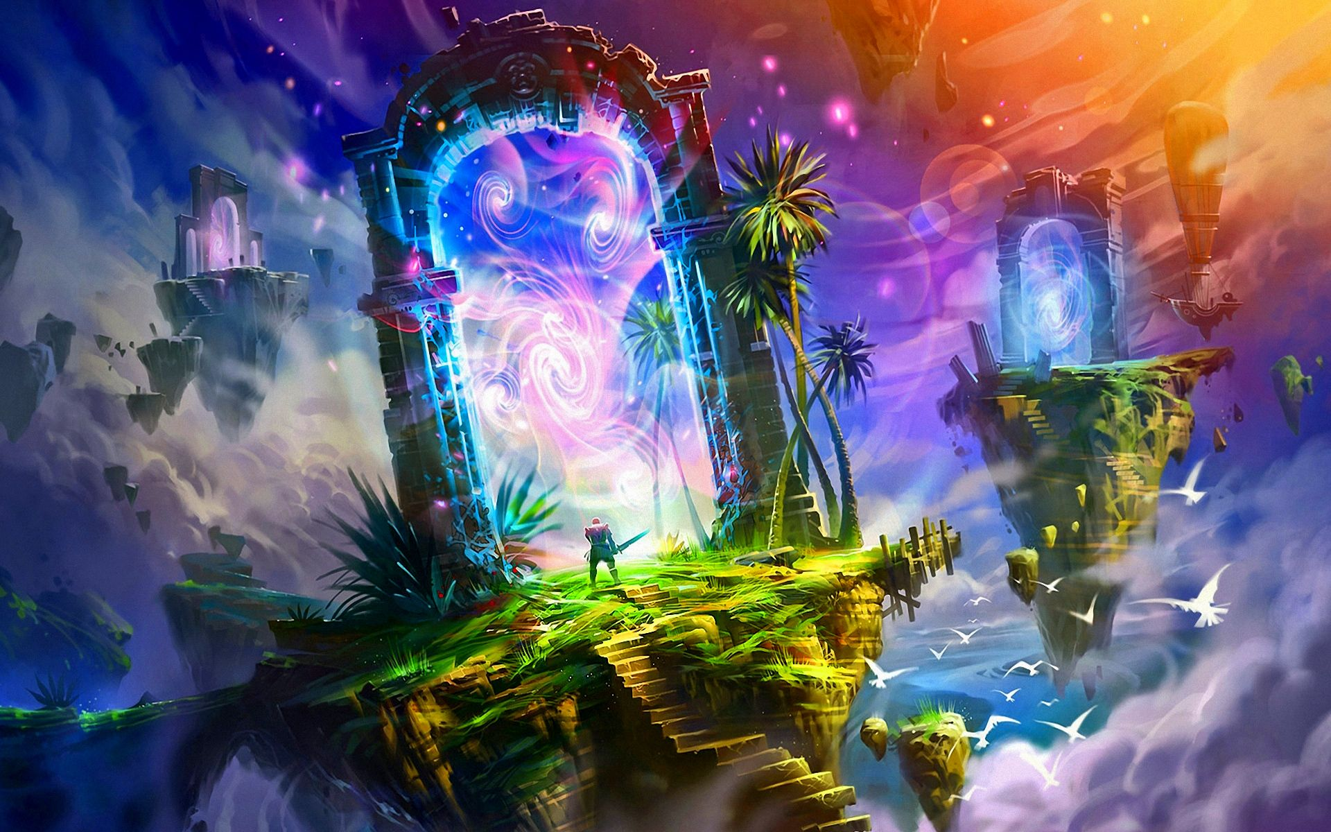 Fantasy land wallpaper wallpapersafari portal art fantasy landscape fantasy art - Magic land wallpaper ...
