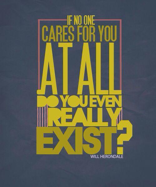 A quot from Tessa «Porque si no hay nadie en el mundo a quien le importes ¿realmente existes?»