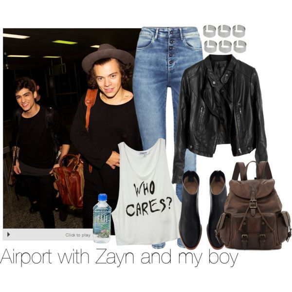 Airport by martii-alcaraz-14 on Polyvore featuring moda, H&M, Frye and ASOS