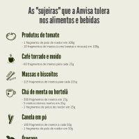 """Infographic: As """"sujeiras"""" que a Anvisa tolera nos alimentos e bebidas"""