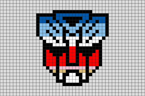 Transformers Pixel Art Easy Pixel Art Pixel Art Templates
