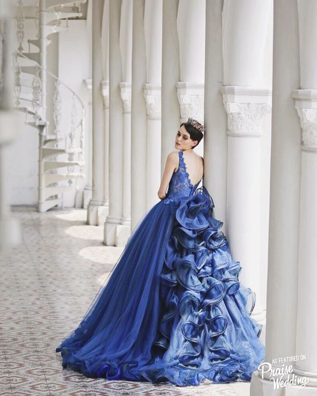 Timeless Royal Blue Gown From Z Wedding Design Featuring Dreamy