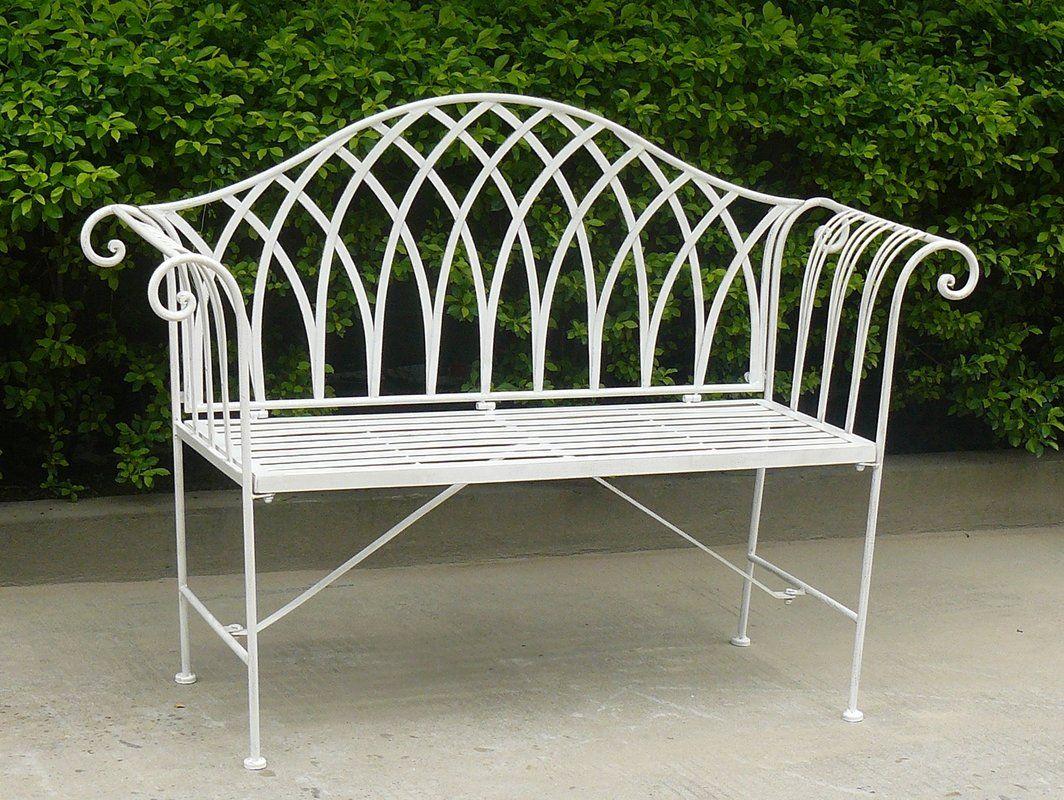 Megrez 2 Seater Steel Garden Bench Wrought iron garden
