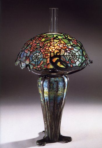 Tiffany Studios Cobweb Tiffany Lamps Stained Glass Lamps Art Nouveau Lamps