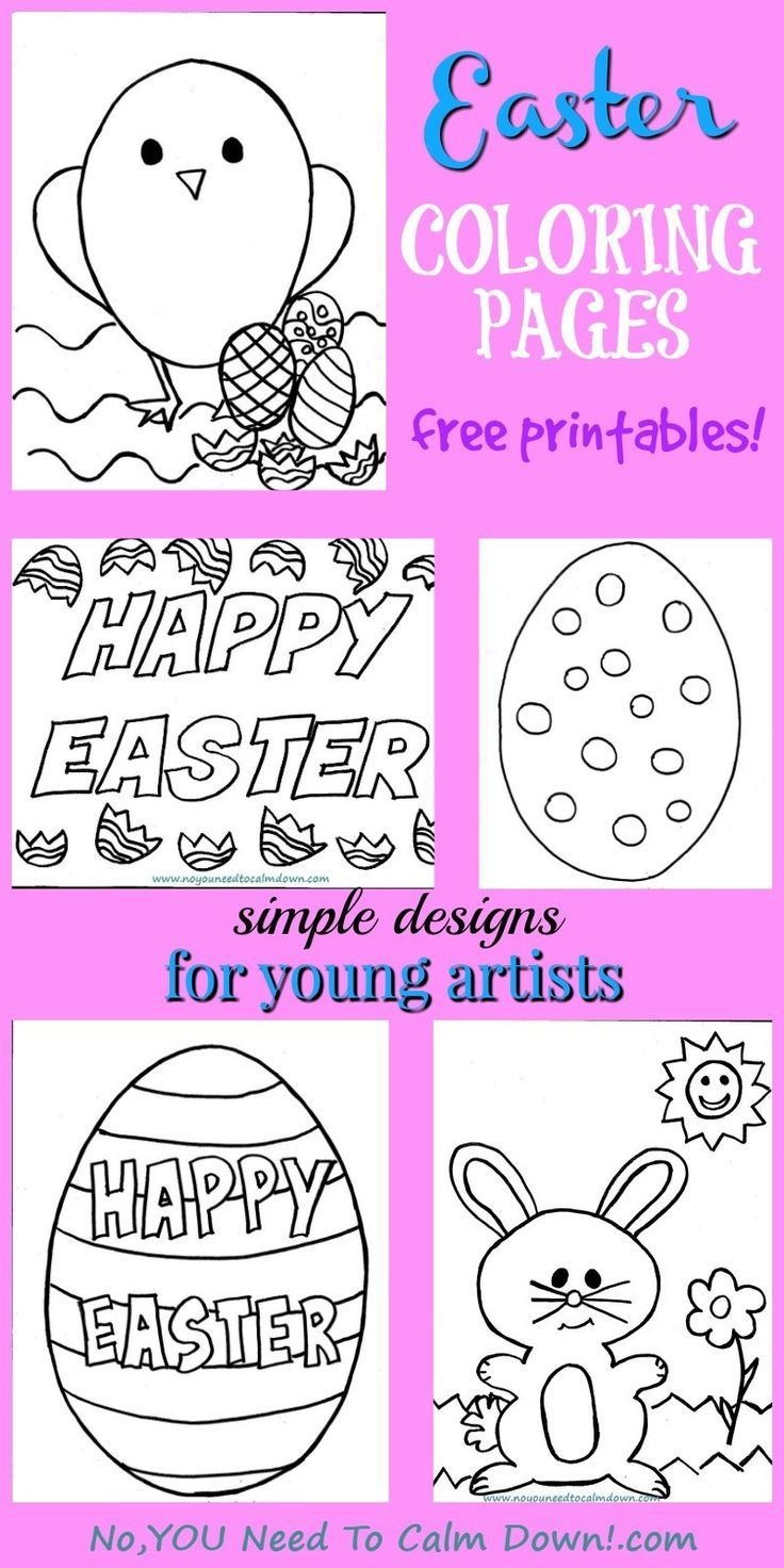 Attractive Easter Coloring Book Collection - Pink Coloring Sheet ...