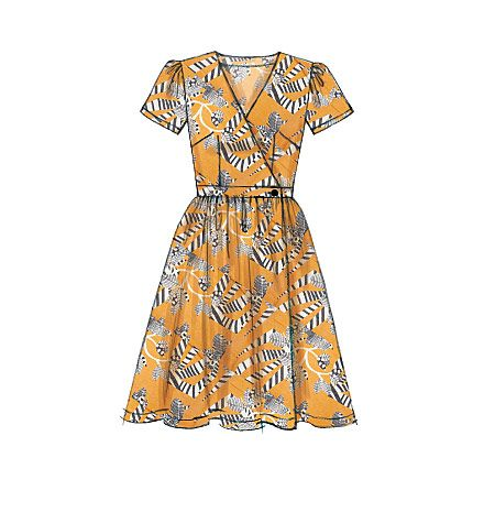 Wrap Dress Sewing Pattern From Mccalls M7185 Features Slim Or
