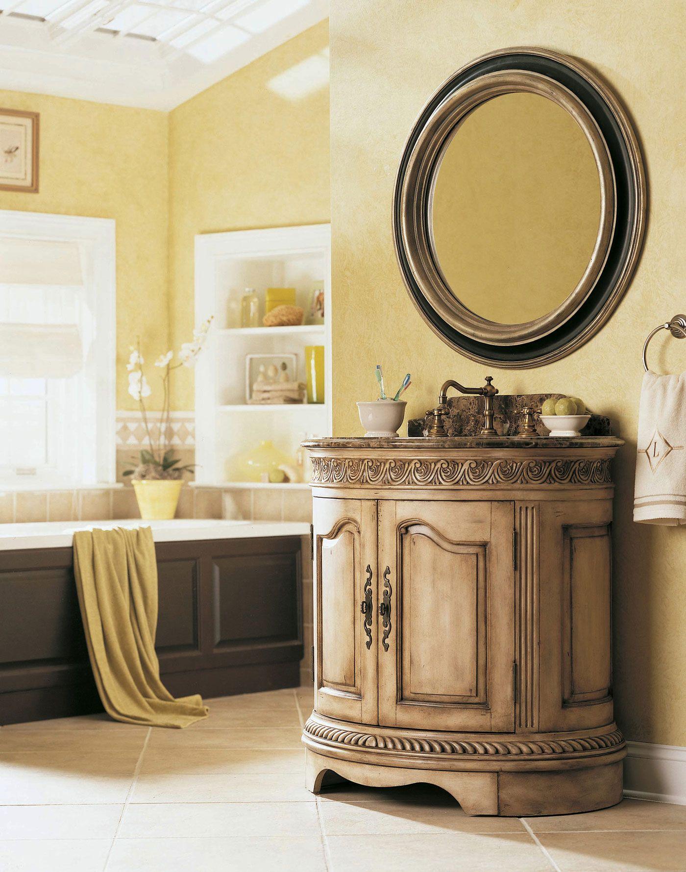 Ideen Der Runde Spiegel Badezimmer Waschbecken  Der Schlüssel für