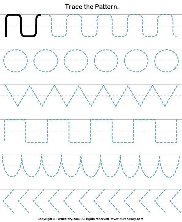 Pre K Handwriting Worksheets With Lines Pre K Handwriting