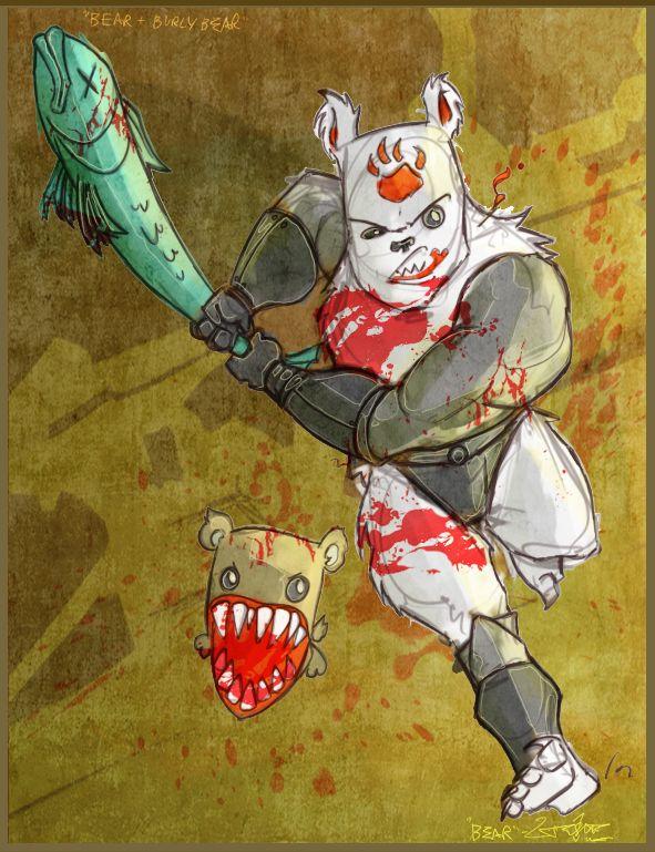 Cc Fan Art 07 Bear By Jouste On Deviantart Castle Crashers Art Drawings