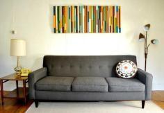 DIY Tutorial: DIY Wall Art / DIY Wall Art from Wood Shims - Bead&Cord