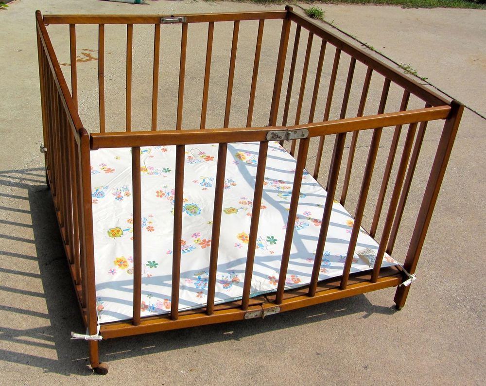 Baby cribs hamilton ontario - Vintage Wooden Playpen 1000x1000 Jpg